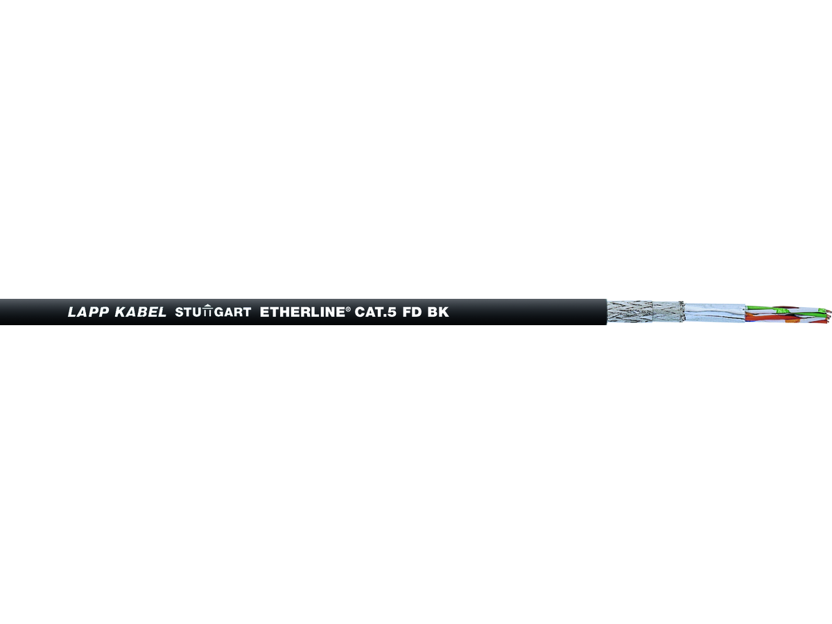 ETHERLINE CAT.5e FD BK